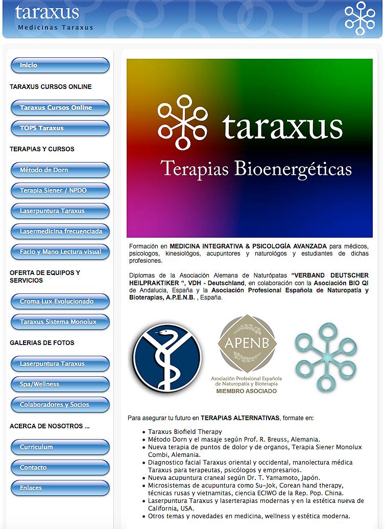 web taraxus - header